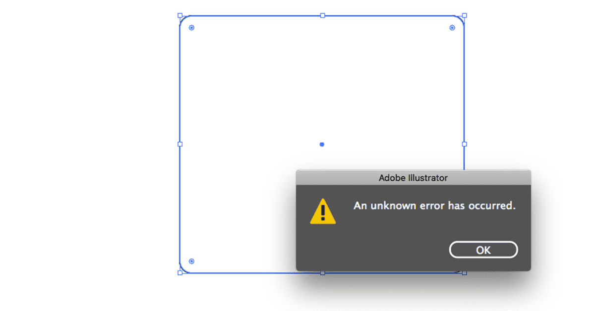 "Adobe Illustrator: ""An unknown error has occurred"" when saving a file"